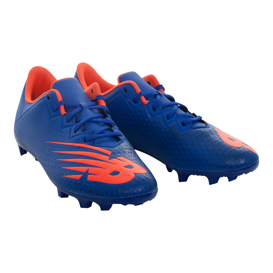 Junior FG Football Boots for Kids in Royal & Orange