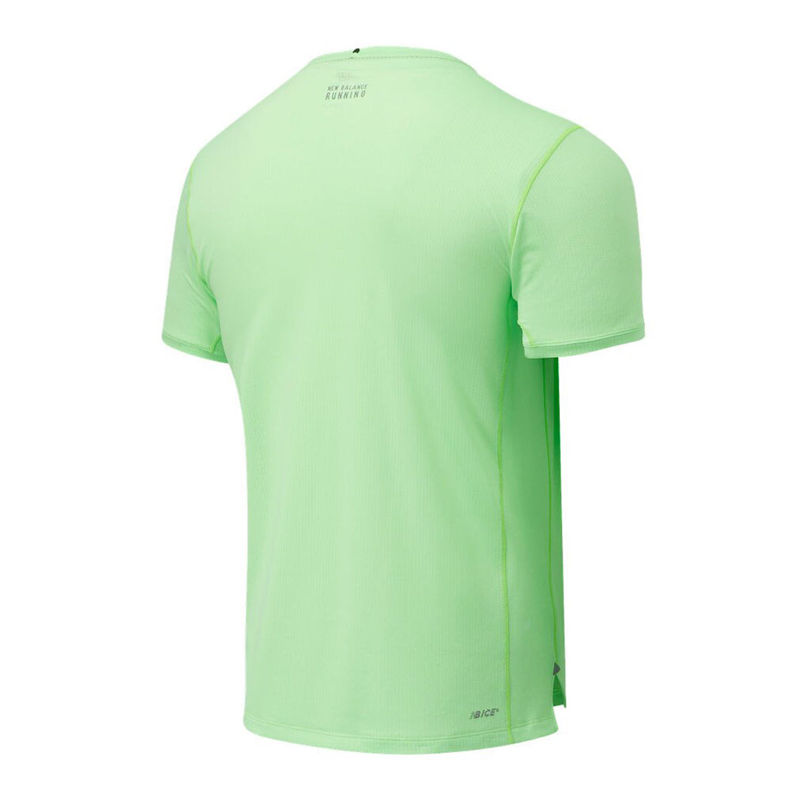 Printed Impact Run SS for Men in Energy Lime