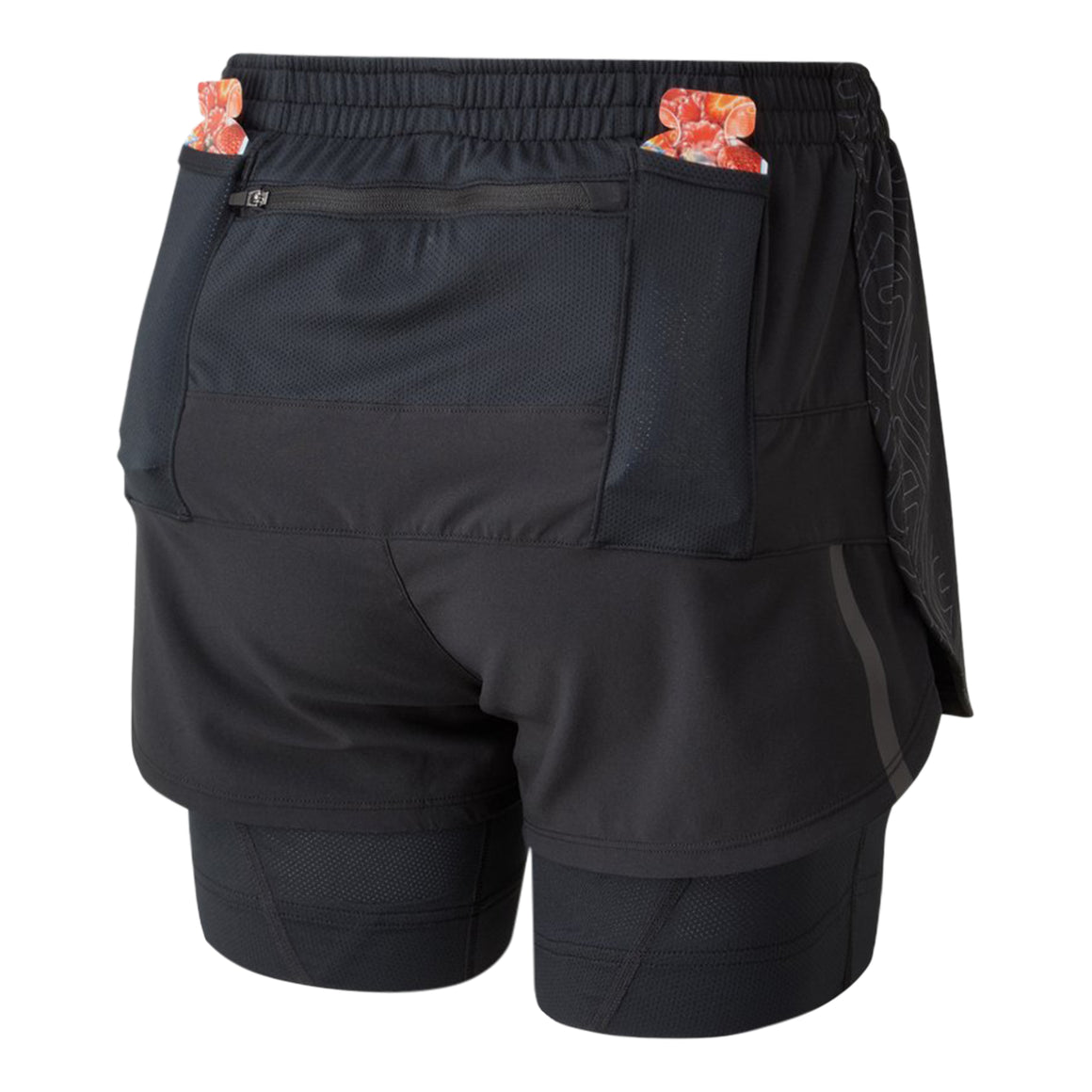 Tech Marathon Twin Short for Women in All Black