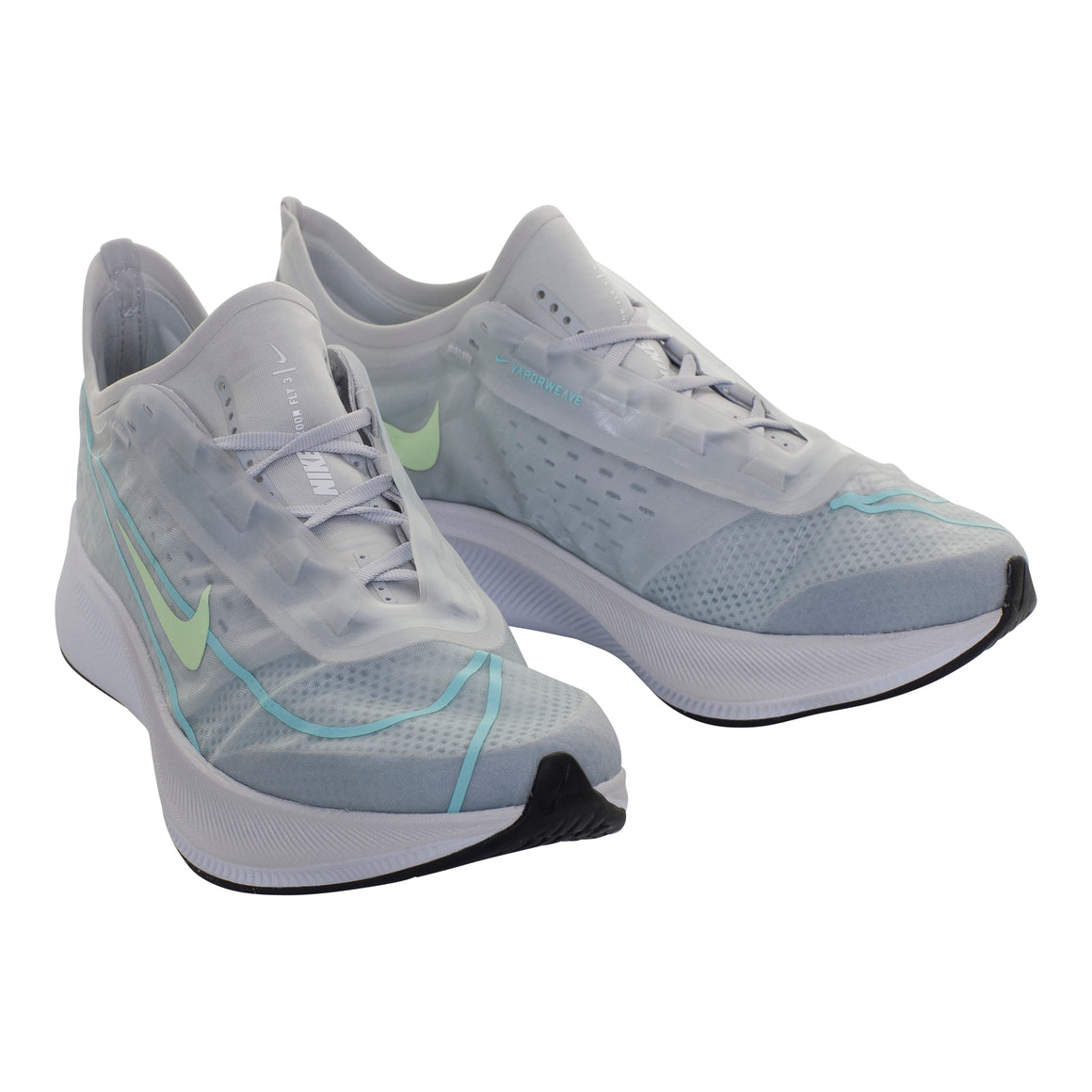 Zoom Fly 3 Running Shoe for Women in Pure Platinum/Barely Volt