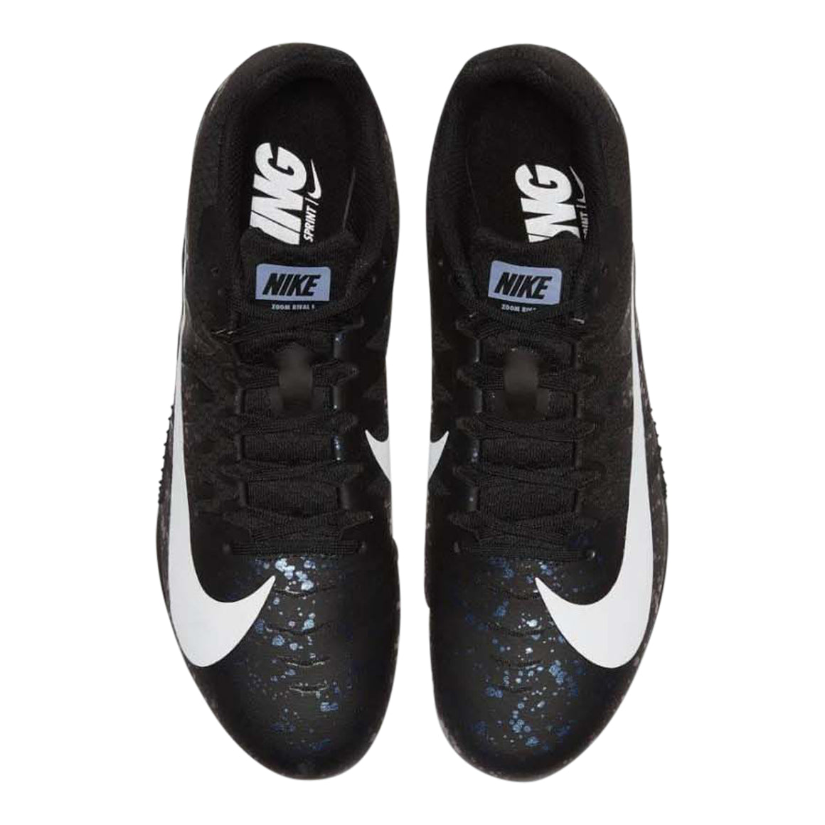 Zoom Rival S9 Track Spikes for Men in Black/White-Indigo Fog