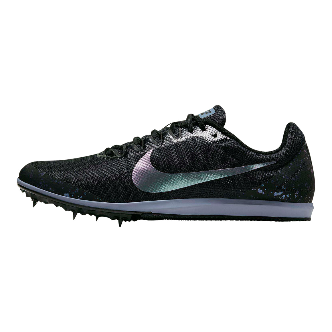 Zoom Rival D10 Track Spikes for Men in Black/Stellar Indigo/Indigo Fog