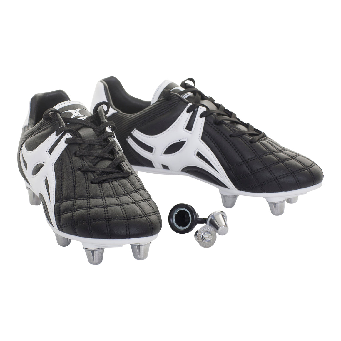 Sidestep XU10 Low Cut Football Boots for Kids in Black & White