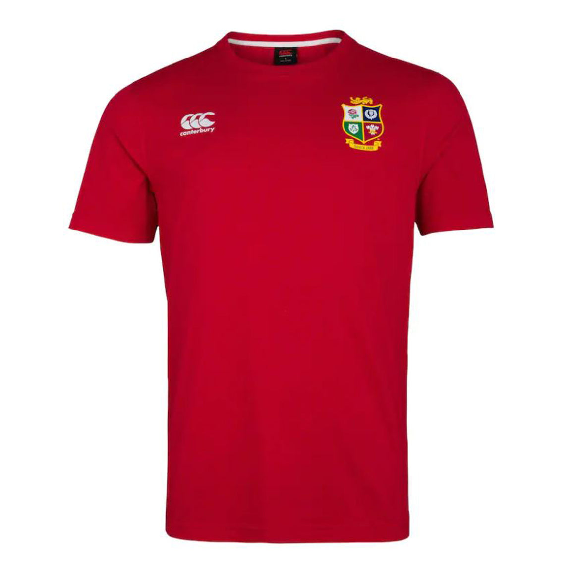 British and Irish Lions Cotton Jersey Tee for Men in Tango Red