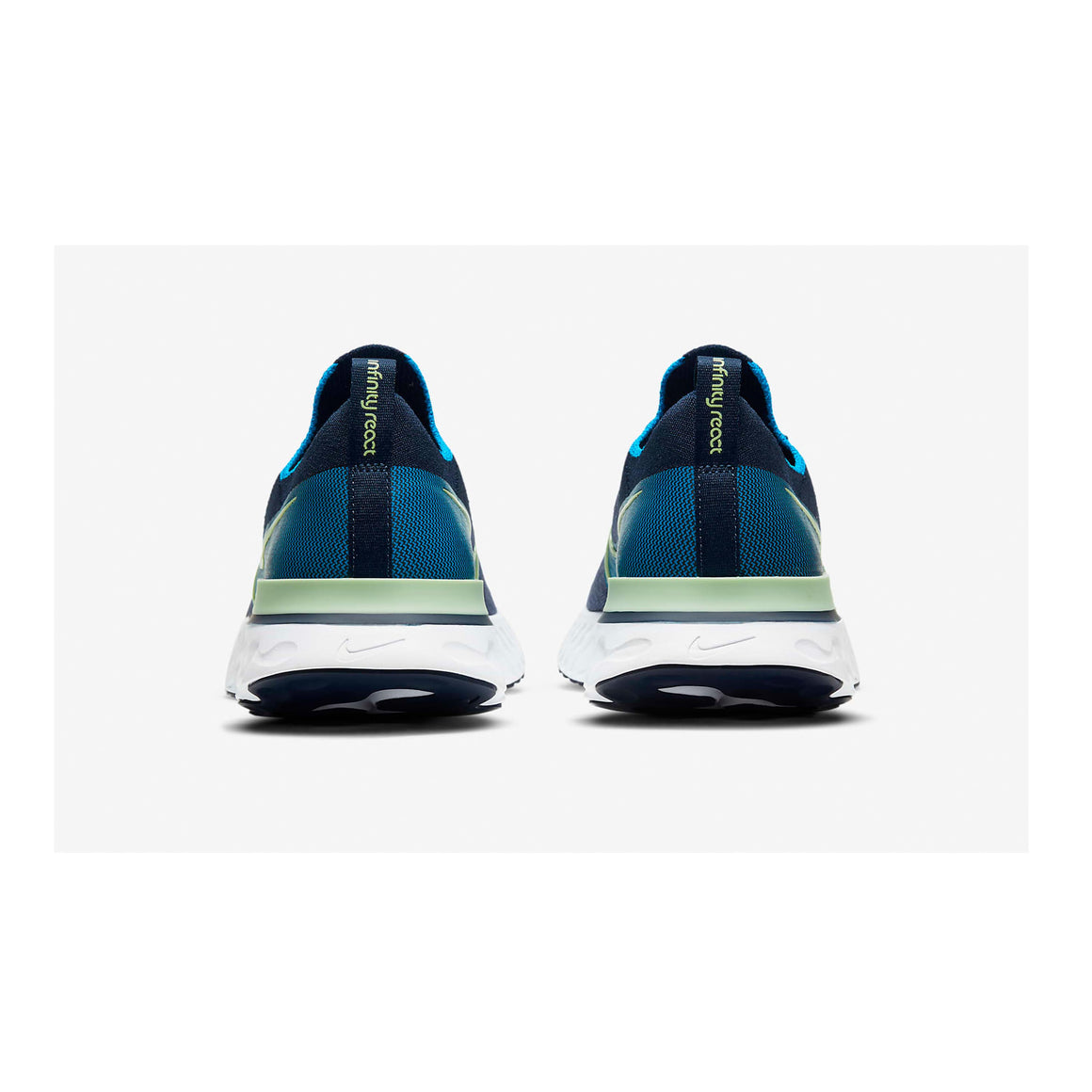 React Infinity Run Flyknit Running Shoes for Men in College Navy/Cucumber Calmblue