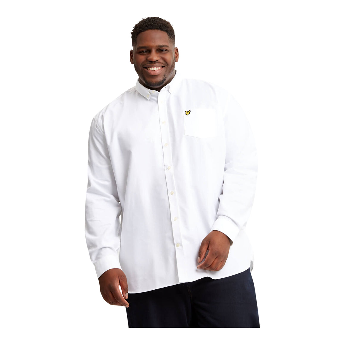 Regular Fit Oxford Shirt for Men in White