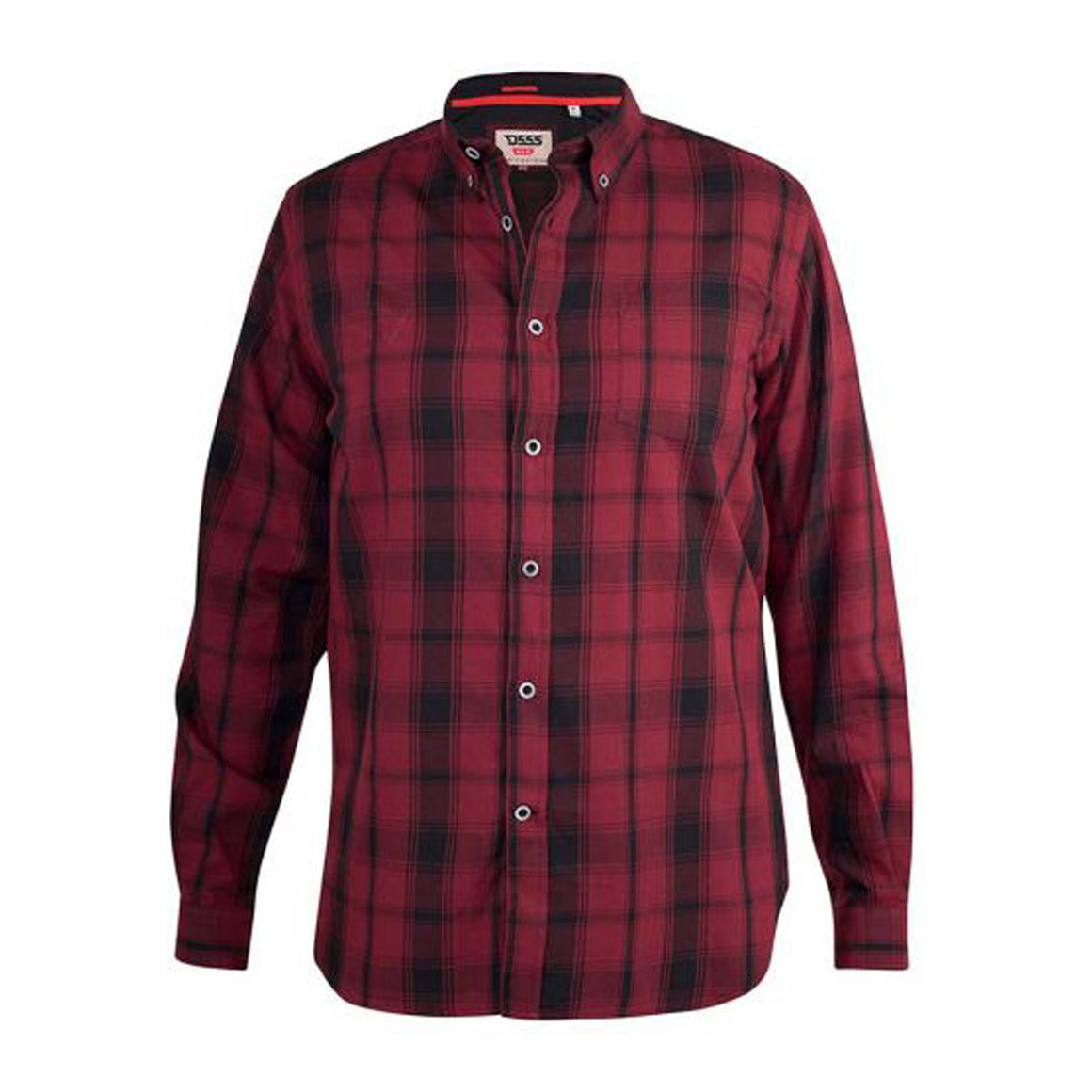 Benalla Long Sleeve Check Shirt  for Men in Red & Black