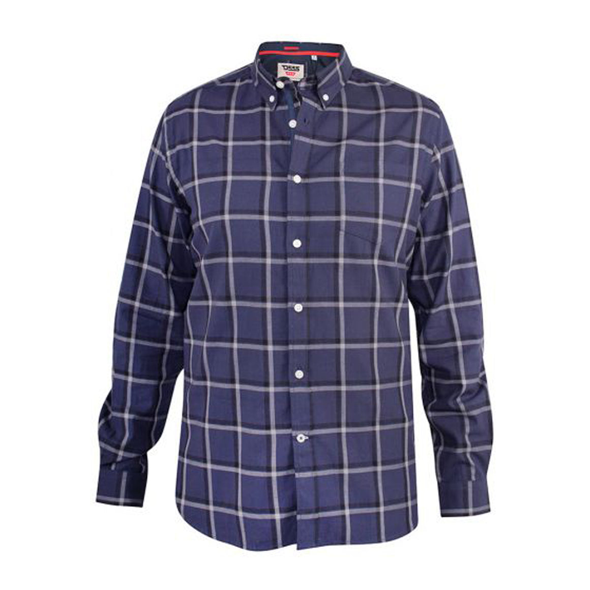 Townsville Long Sleeve Check Shirt for Men in Navy