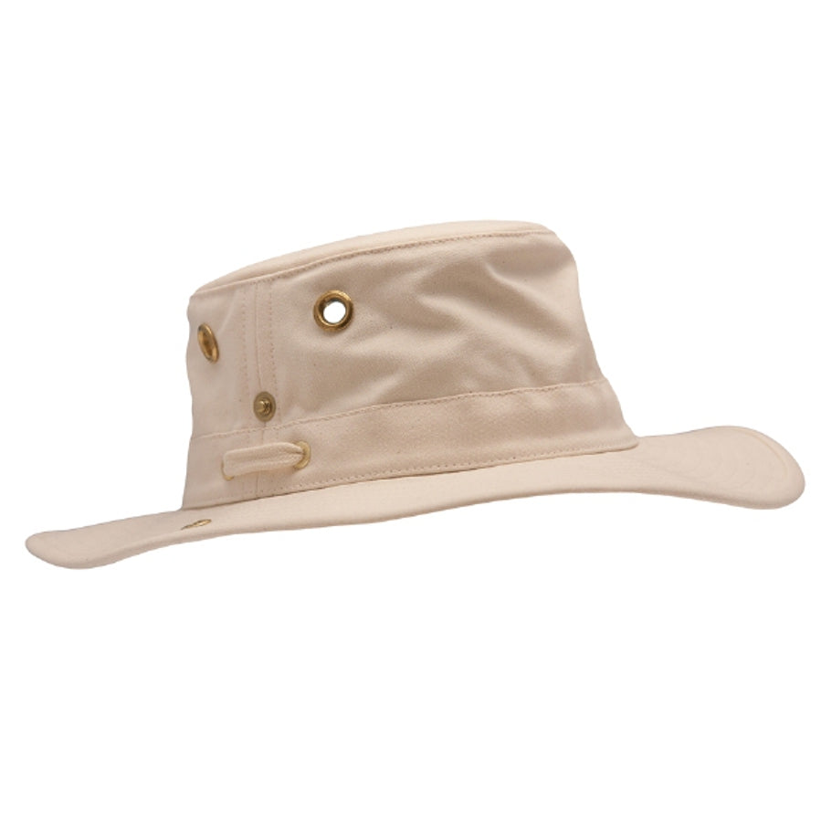 Unisex Snap Up Brim Hat in Natural