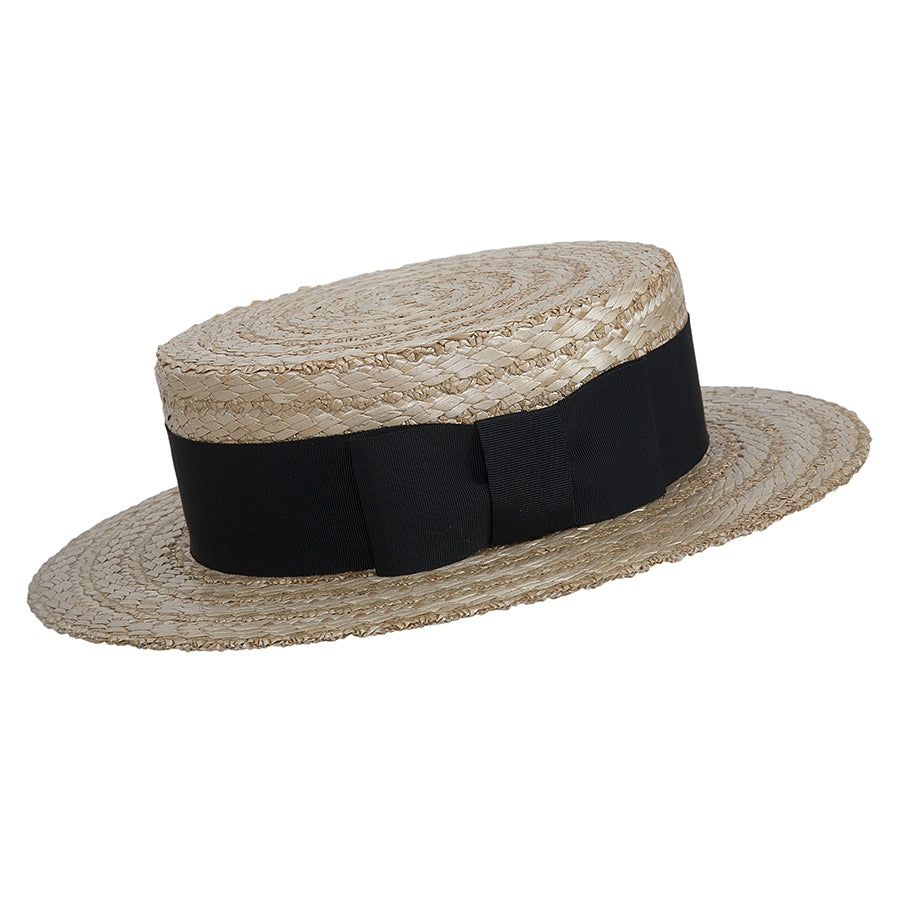 Boater Straw Hat in Natural