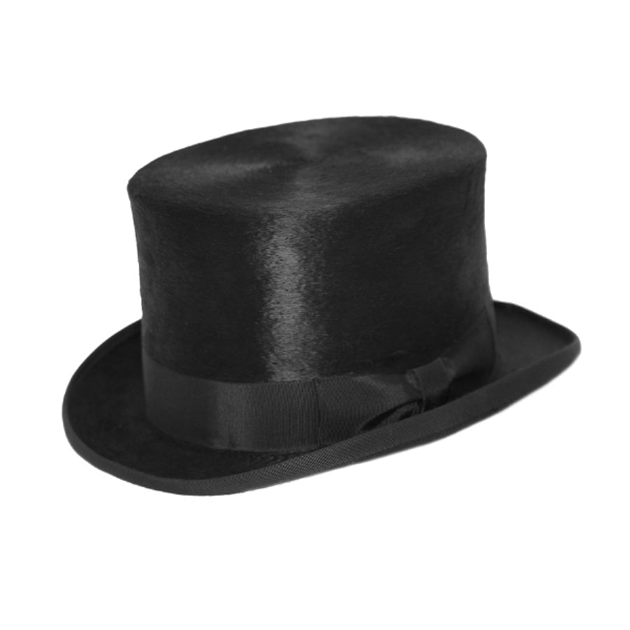 Black Melusine Fur Felt Top Hat