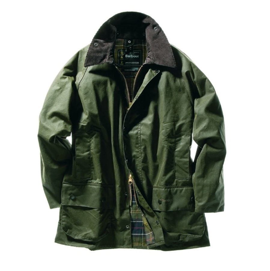 Classic Beaufort Waxed Jacket for Men in Olive