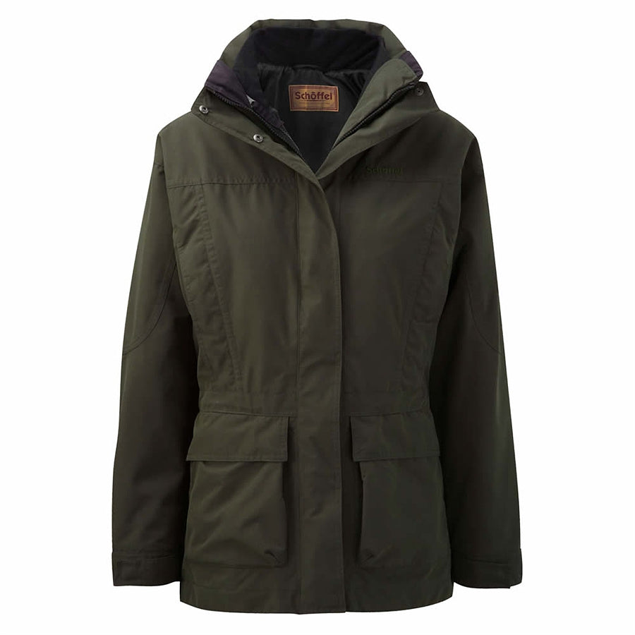 Uppingham Coat for Women in Dark Olive
