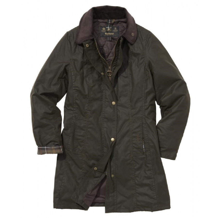 Belsay Wax Jacket for Women in Olive