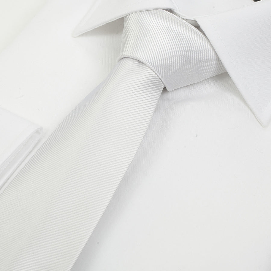 Silk Tie in White