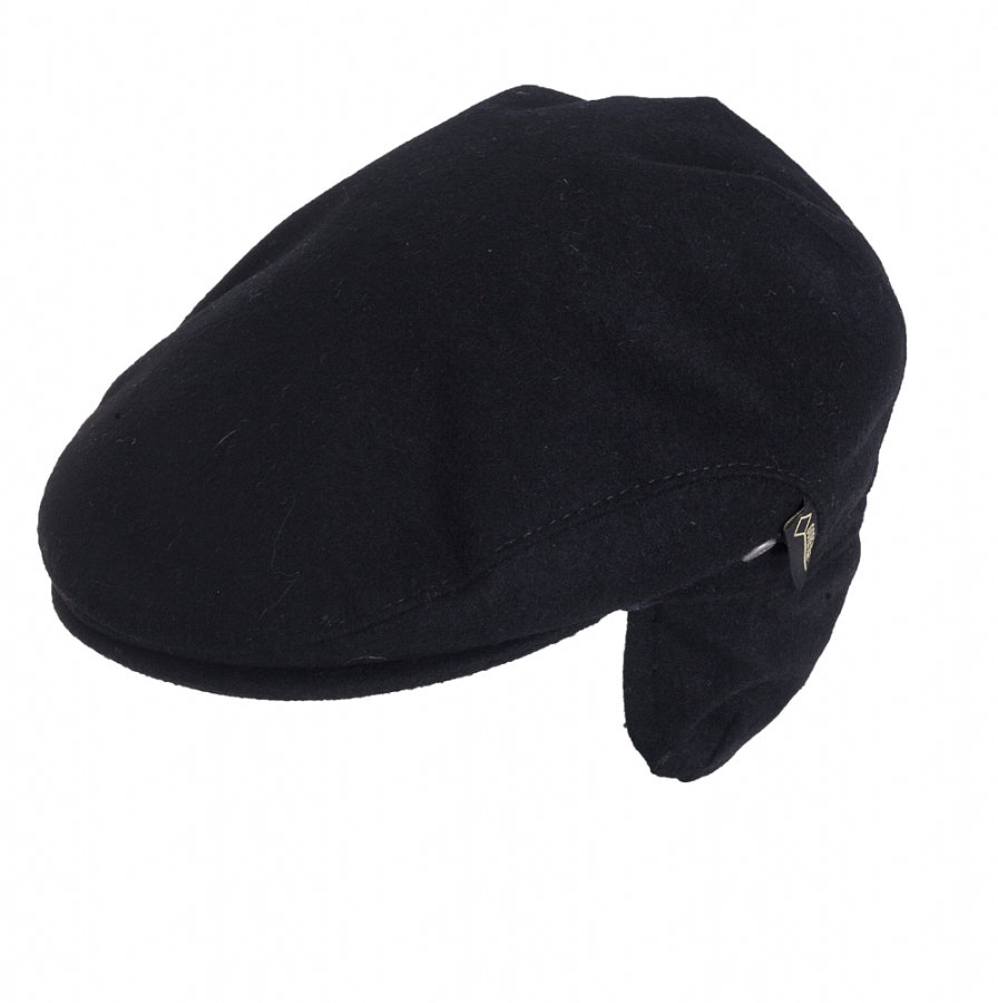 Flat Cap for Men in Black
