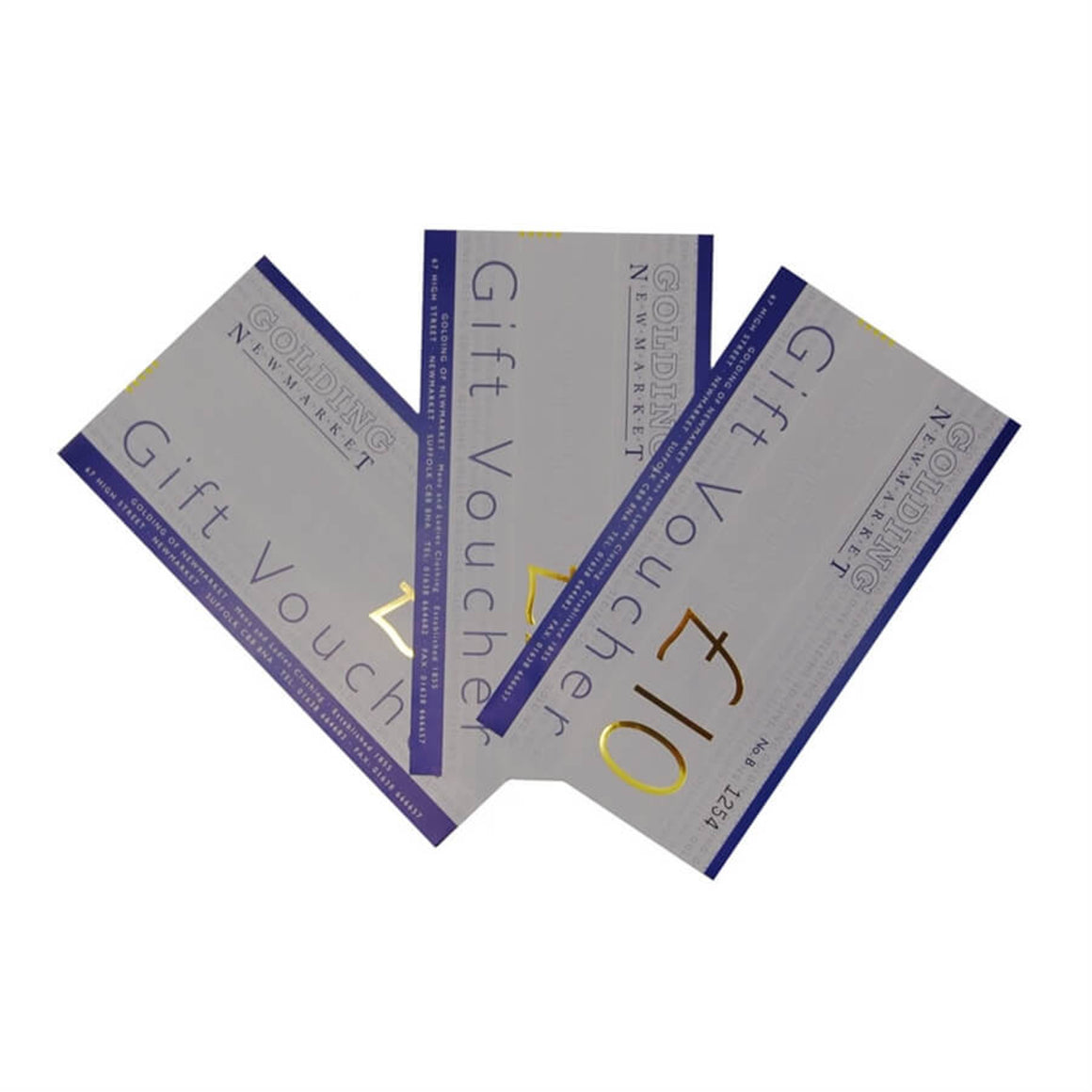 Golding In-Store Gift Vouchers