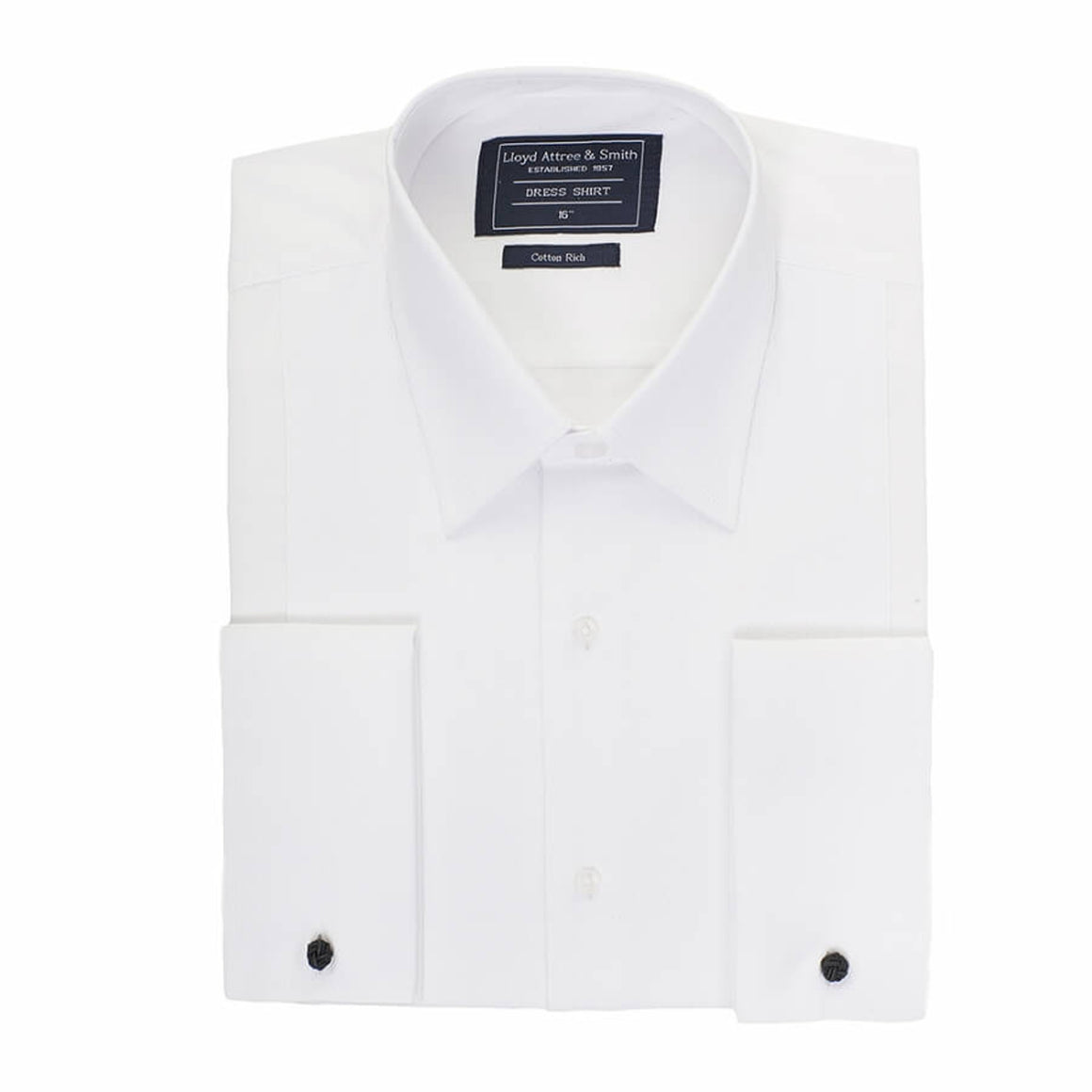 Marcella Standard Collar Dress Shirt for Men in White