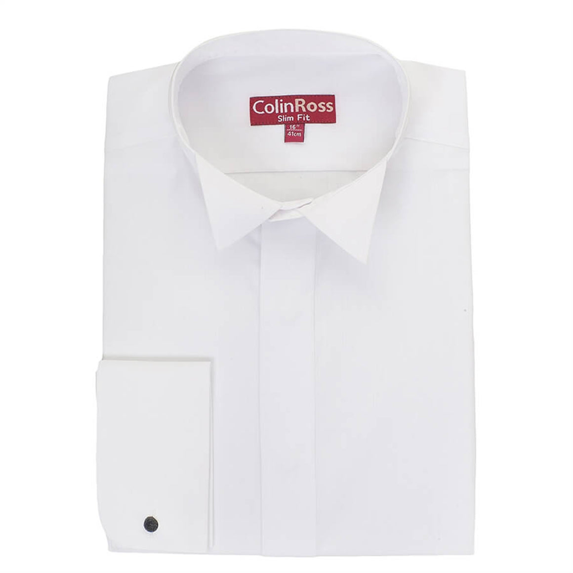 Plain Tailored Wing Collar Shirt for Men in White