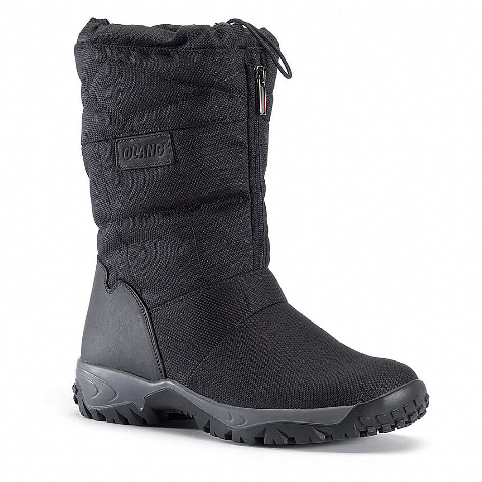 Oslo Front Zip Winter Boot for Men in Nero