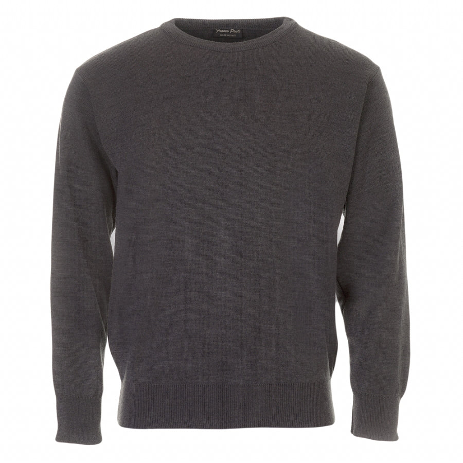 Crew Neck Pullover in Charcoal