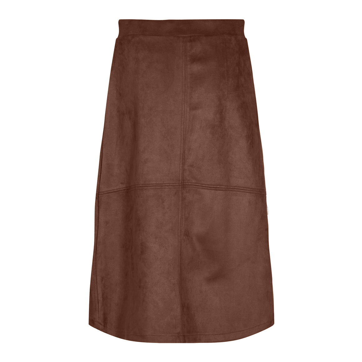Suedette Skirt for Women in Chocolate