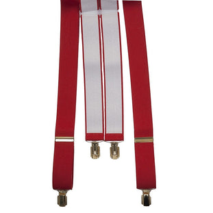 Coes Clip Braces for Men in Red