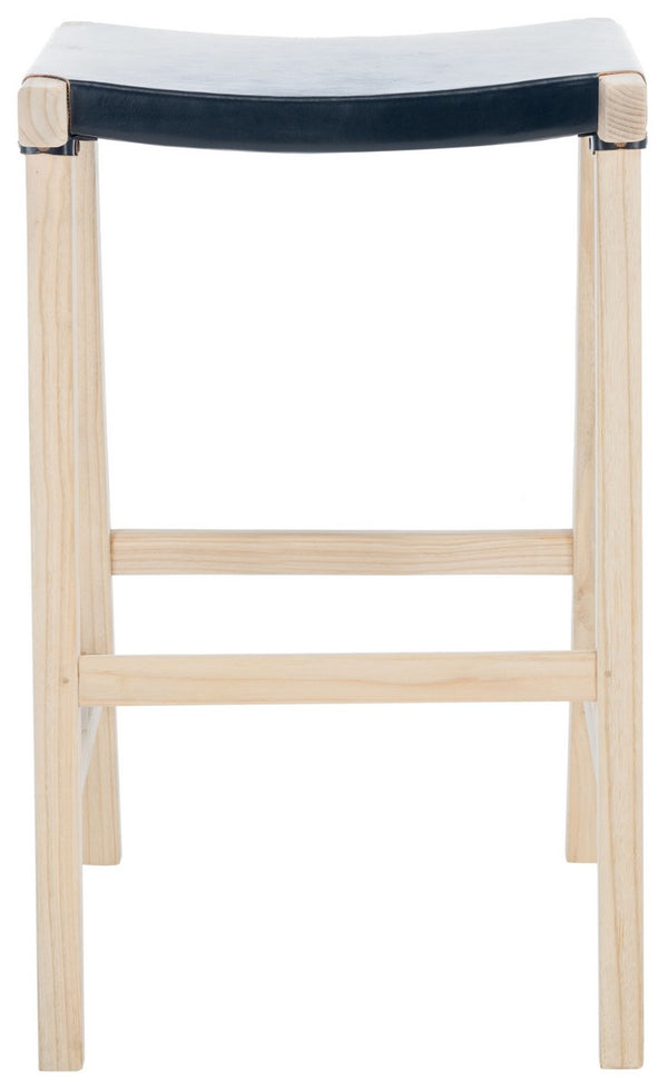 Jacoby Rectangle Barstool set of 2 Black / Natural