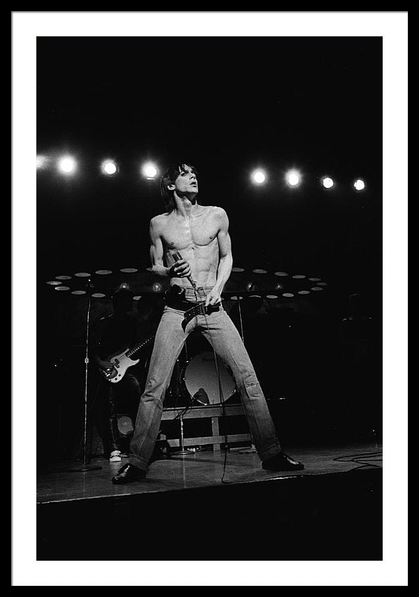 Iggy Pop Performs Live Framed Print