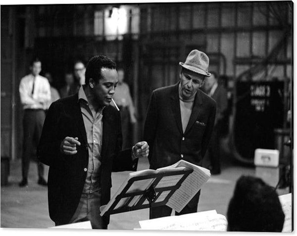 Quincy Jones & Sinatra In Studio Acrylic Print
