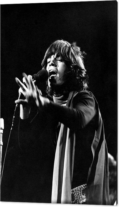 Mick Jagger performs on stage at Madison Square Garden, New York Acrylic Print