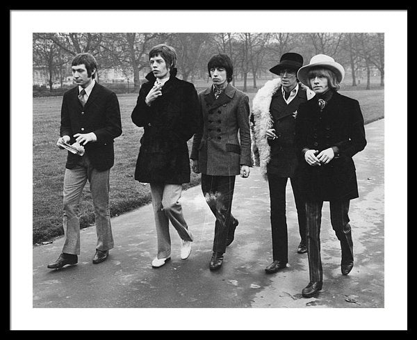 The Rolling Stones walking in London's Green