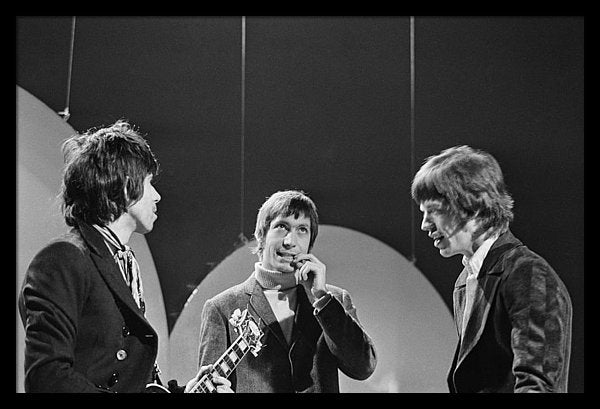 Rolling Stones during the group's appearance on the Eamonn Andrews TV show