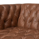 Stockton Sofa Natural Washed Chocolate, Weathered Oak 90""