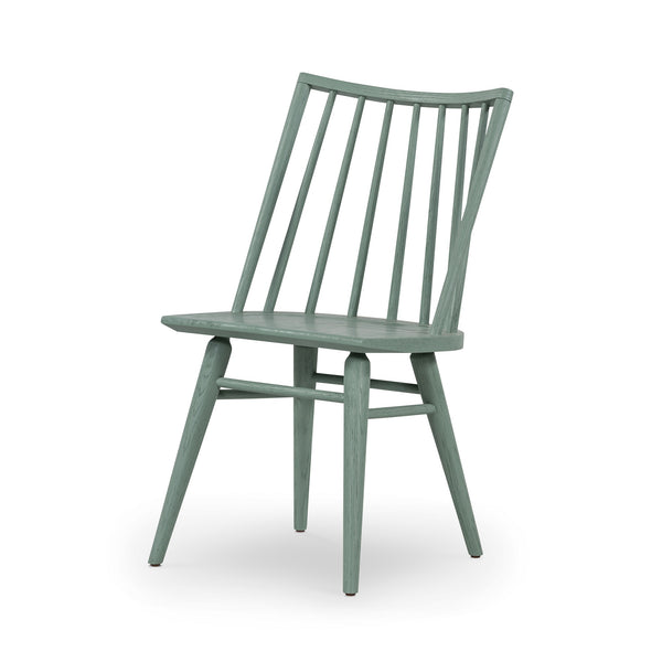Alicia Windsor Chair Sage Green Oak Solid