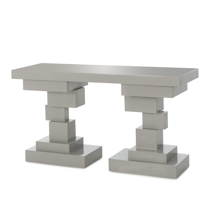 Arion Console Table Grey Lacquer