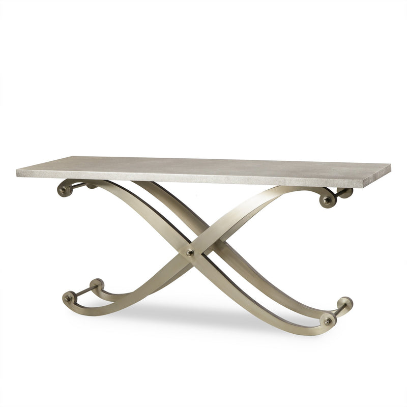 Rose Console Table Shagreen Top