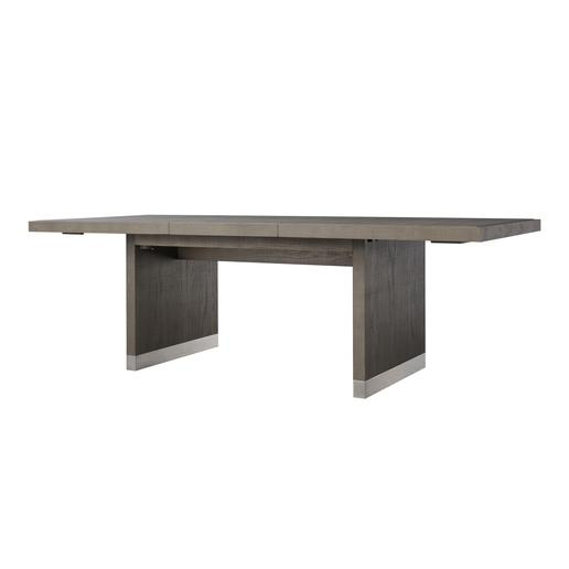 Frankfort Extending Dining Table Large Grey & Pewter
