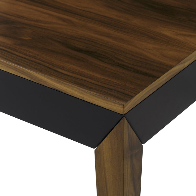 Roman Dining Table Extendable Black and Rosewood