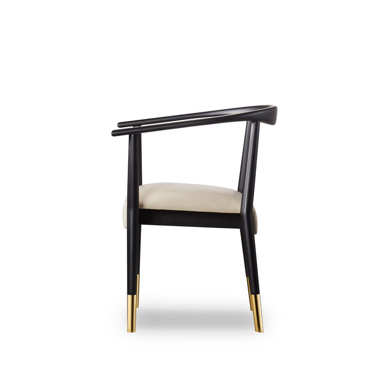 Brook Dining Chair Fawn Prestige/ Matte Black