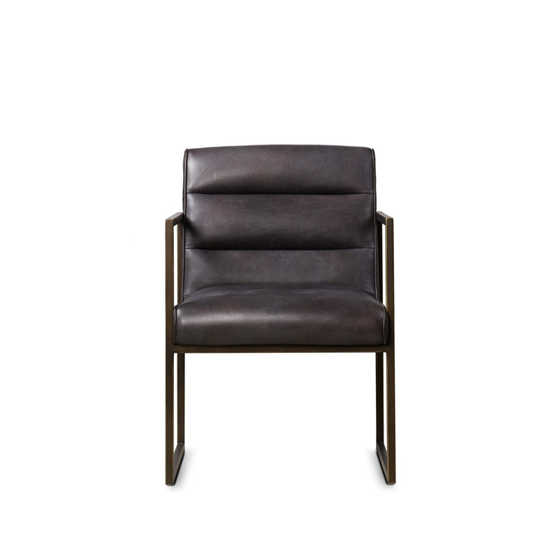Paul Dining Arm Chair Saddle Brown