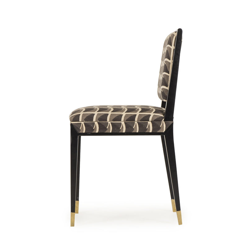 Roman Side Chair Patriotic Black