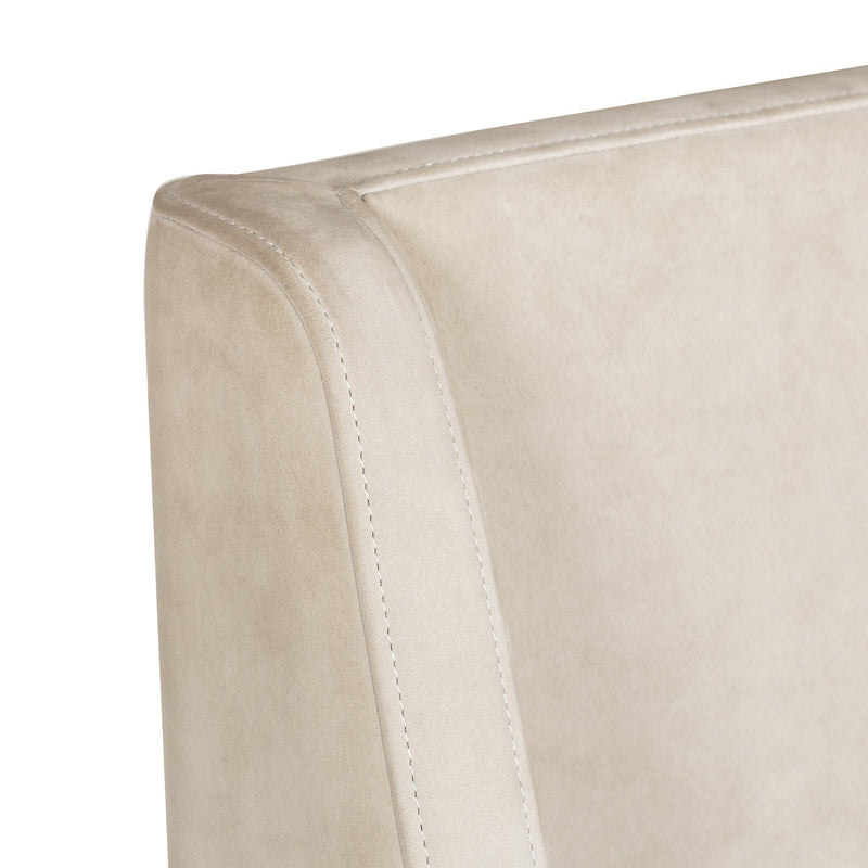 Dicie Dining Chair Finely Beige Leather