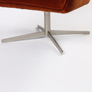 Coshon Chair Soft Velvet Sienna, Brushed Steel