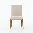 Tyler Dining Chair Dark Linen, Brass, Dark Nettlewood