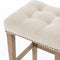 Andrew Bar stool Canvas Desert, Aspen Grey, Brass