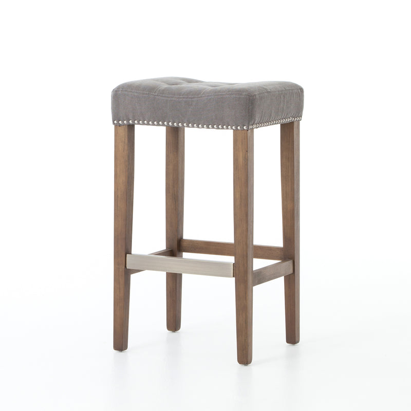Andrew Bar stool Canvas Dark Moon, Aspen Grey, Pewter