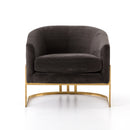 Ruthy Chair Bella Smoke, Satin Brass
