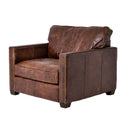 Louvain Chair Cigar, Antique Oak, Antique Brass Nailhead
