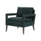 Franchon Chair Emerald Worn Velvet, Sienna Brown